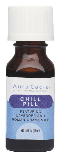Aura Cacia Essential Solutions Oil Blend, Chill Pill, 0.5 Fluid Ounce (Pack of 2)