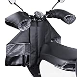 Cubierta de parabrisas elctrico de moto, PU Plus Velvet Black + Big Mouth Set, Scooter de coche elctrico de parabrisas de coche de invierno aplicable