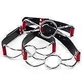 Classoo 3 Piezas / 3 Dimensiones Accesorios de Accesorios de Disfraces Bola de Boca de Acero Inoxidable Transpirable Negra y roja