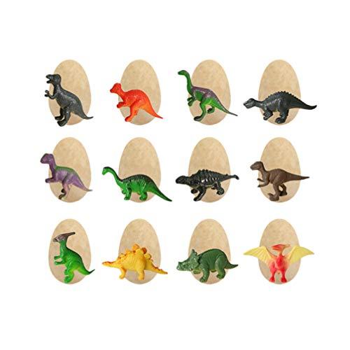 TOYANDONA 12 Piezas Mini Huevos de Dinosaurio Cavar Juguetes de Huevo de Dinosaurio Vívidas Figuras de Dinosaurios para Niños Amigos Arqueología Ciencia Juguetes Educativos Tempranos