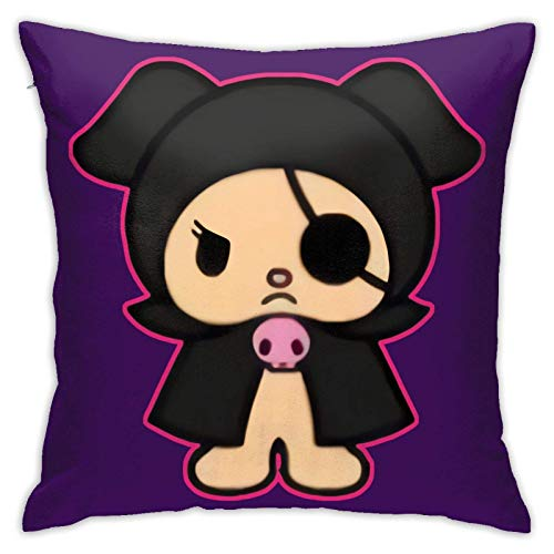 My Melody and Kuromi Throw Pillow Covers Chair Cushions Car Cushions Interior Decorations for Sofa Couch Chair Bedrooms 18x18inch