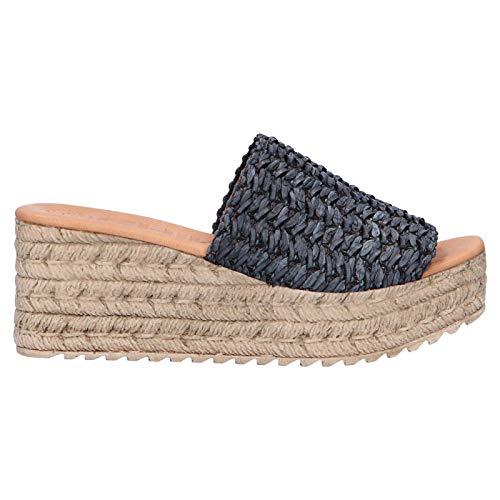 Zapatos de cuña de Mujer CHIKA10 Egipto 06 Negro