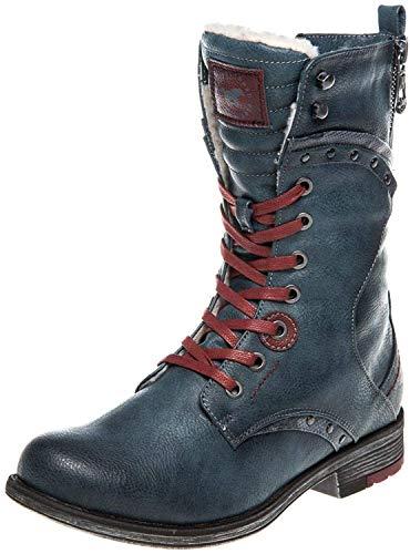 MUSTANG Damen Stiefel gefüttert Blau, Schuhgröße:EUR 43