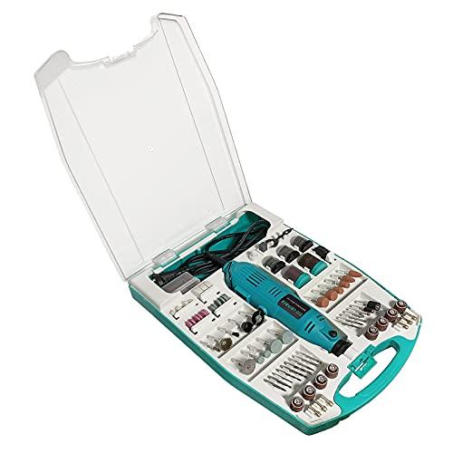 LZQ Miniamoladora angular de 226 piezas, incluye maletín, amoladora de mano, herramienta multifunción, herramienta rotativa