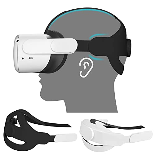 Vakdon (2 Piezas) Correa de Cabeza para Oculus Quest 2, Reemplazo para la Correa Oculus Quest 2 Elite, Cojín de Cabeza Ajustable, Reduce la Presión de la Cabeza, Oculus Quest 2 Accesorios
