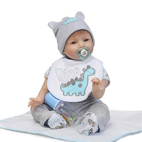 Honestyi Bambole Bambina Ragazza Bambolotto Neonato Bambola Reborn Femmina Bambolotti Morbido Silicone Vinile Bambolotti Realistici Reborn Baby Doll Simulazione Bambini