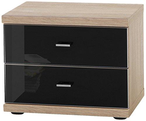 Wiemann 733302 Miro Nachttisch, Holz, eiche-sägerau-nachbildung, 50 x 36 x 41 cm, montiert