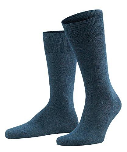 FALKE Herren Socken Family, 94{240f1f0cda068af9d1c13a72d37f7f3b5196f8dae9f97e8aa89ea260594d4021} Baumwolle, 1 Paar, Blau (Navy Blue Melange 6490), Größe: 39-42