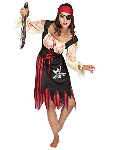 Déguisement pirate zombie adulte Halloween pour femme Taille Unique