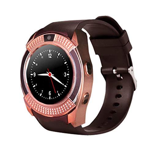 Nsdsb Reloj Inteligente Portátil A Prueba De Agua para Hombres, Cámara, Reloj Inteligente, Podómetro, Reloj De Pulsera Dorado