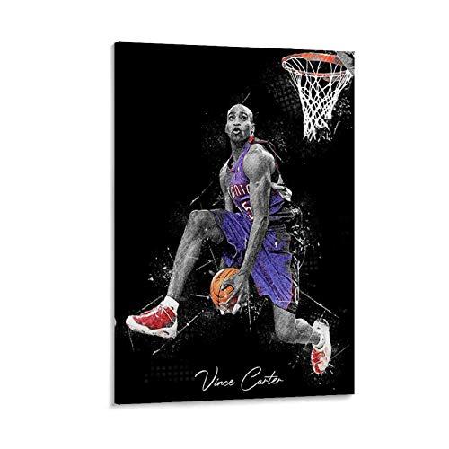 SEMN Póster decorativo de canasta de baloncesto, lienzo para pared, sala de estar, póster, dormitorio, 30 x 45 cm