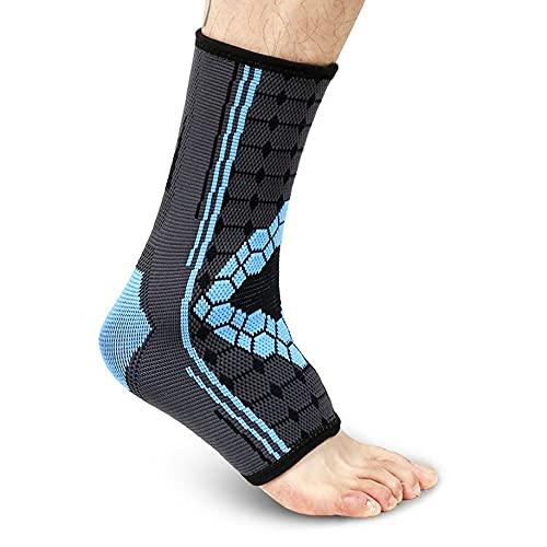 2 calcetines de compresión de tobillo para fascitis plantar con soporte de arco para deportes, correr, baloncesto, fútbol