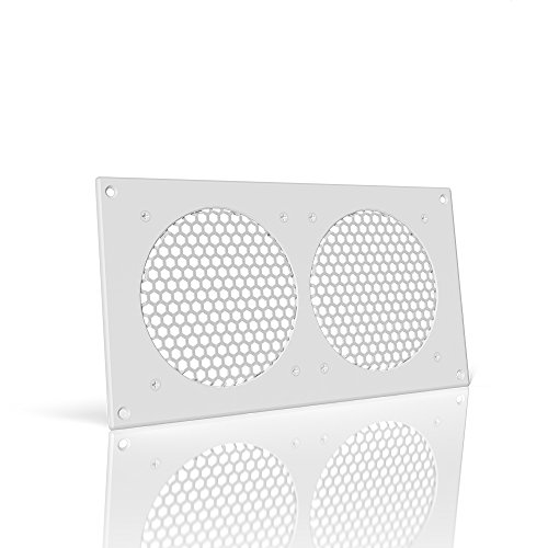 AC Infinity White Ventilation Grille 12', for PC Computer AV Electronic Cabinets, Replacement Grille for AIRPLATE S7/T7