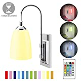 HONWELL Wall Lamp Battery Operated LED Wall Sconce Indoor Wireless Multi Color Wall Sconce Light Fixture for Room Lighting, Stick Lights for Wall Kitchen Hallway Bathroom, 12 Colors, Remote Controlled