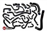 TT Racing Kit de manguera de calefacción de silicona negra de 22 piezas para Nissan Silvia S13 CA18DET CA18