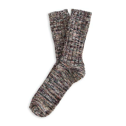 THUNDERS LOVE | Unisex Socks | Size 39-45 | Blend Model | Brown und Green Socks | Cotton Socks | Recycled Cotton 90prozent | Soft and Padded Touch | Ribbed Socks | Comfort | Ergonomic Adjustment