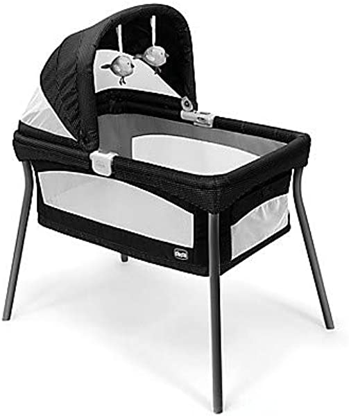 Chicco LullaGo Primo Portable Bassinet In Genesis Black