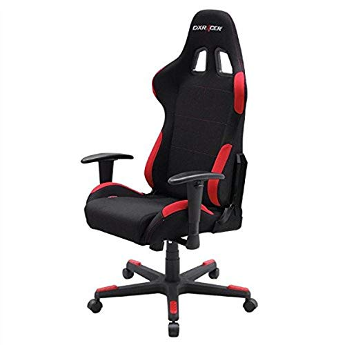 Dxracer - Silla Gaming fl00 Negra y roja 🔥