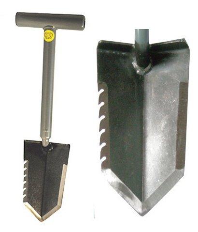 "Lesche Mini Sampson 18"" T-Handle Shovel with Serrated Blade"