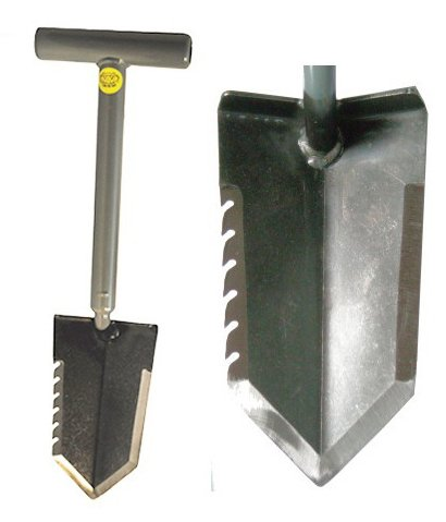 Lesche 1V_WWMFG-TH18-SER-L Mini Sampson 18' T-Handle Shovel with Serrated Blade