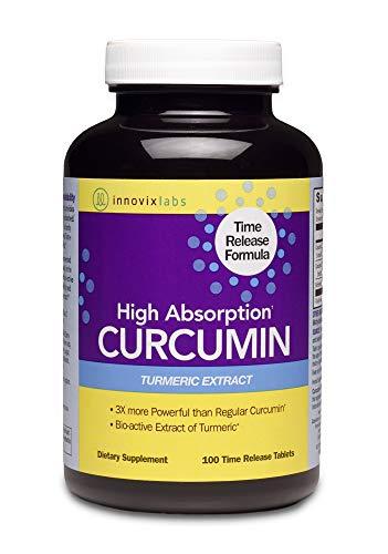 InnovixLabs Curcumin Turmeric w/ C3 Reduct, C3 Complex & BioPerine Black Pepper for Higher Absorption, 100 Time-Release Tablets, 95% Tetra-Hydro-Curcumin, Turmeric Curcumin Supplement, Curcumin Supple