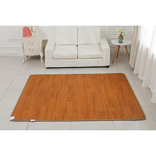 Bodenmatte Herausnehmbare elektrisch beheizte Fußmatte - Fußbodenheizung für Zuhause/Büro mit Zeitschaltuhr | Kohlenstoffkristall, Multi-Size