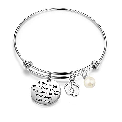 Gzrlyf New Mommy Bracelet New Mom Jewelry Pregnancy Gifts Mommy to Be Gifts A Tiny Angel Sent from Above has Come to Fill Your Heart with Love (Bracelet)