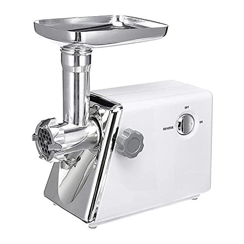 Molinillo de Alimentos 22 0V 2800W Pagina De Salchicha Procesador De Alimentos Molining Mincing Máquina De Mezcla De Agitación (Color : Silver, Size : One Size)