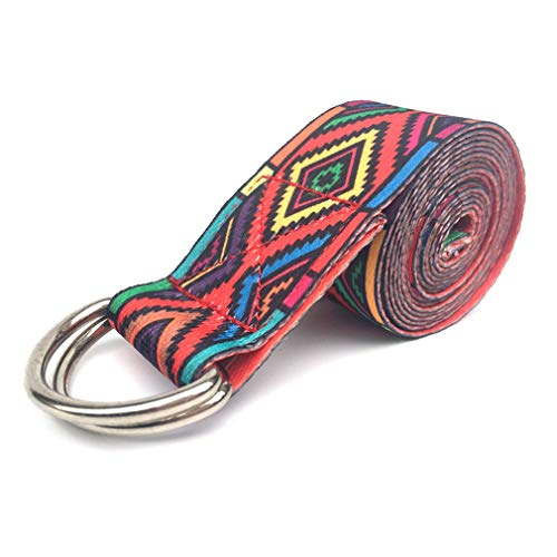 Haowen Cinturón elástico Estampado Cinturones Deportivos Ajustables duraderos y elásticos Gym Rojo
