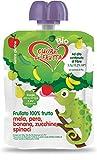 Cuore di Frutta Frullato di Frutta Bio, Mela, Pera, Banana, Zucchina e Spinaci - Confezioni da 90G, 12 Unità