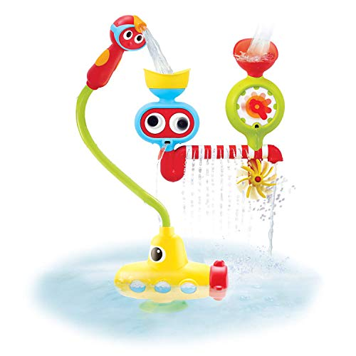 Product Image of the Yookidoo Bath Toy - Submarine Spray Station - Battery Operated Water Pump with Hand Shower, Googly Eyes Water Spinner - Many Ways to Play (Age 2-6 Years)