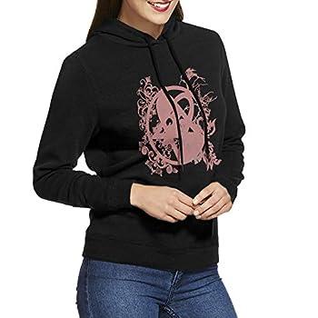 Womens Hoodie Heartagram Tattoos Casual Long Sleeve Hoodie Adjustable Sweatshirt Jackets Black