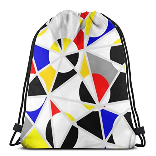 Classic Polka Dot Pattern In A Patchwork Collage Drawstring Backpack School Gym Kid Bag