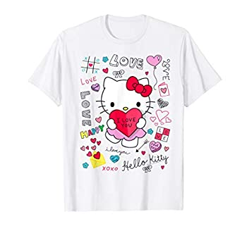 Hello Kitty Love Notes Valentine Tee Shirt