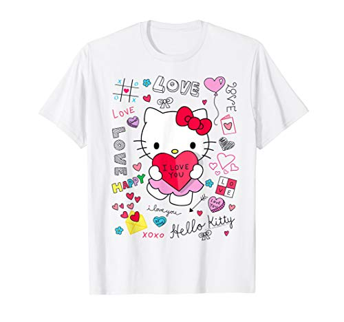 Hello Kitty Love Notes Valentine Tee Shirt