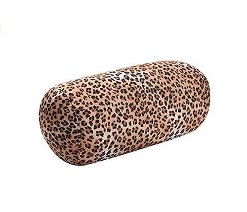 DADA Reisekissen mit Mikroperlen, Nackenkissen, Schlafmassage, Rückenstütze und Komfort für Kopf, Nacken, Arme, Beine, Handgelenke und unteren Rücken, ideal für Stressabbau leopard