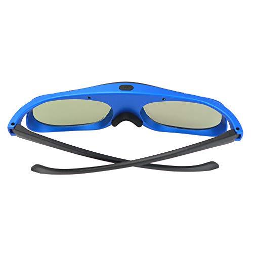 Ajcoflt Gafas 3D DLP Link Gafas de proyector con Obturador Activo Recargables para Todos los proyectores 3D DLP-Link compatibles con Optoma Acer BenQ ViewSonic Sharp DELL