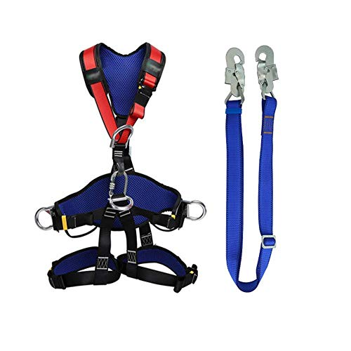 zvcv Climbing Harness Protect Waist Safety Harness Thicken Rock Climbing Harness For Men Women Personal Protective Equipment
