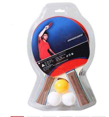 Lowest Prices! Table Tennis Player Set Rackets with 3 Ping Pong Balls Quick Loop Drive Attacking Por...