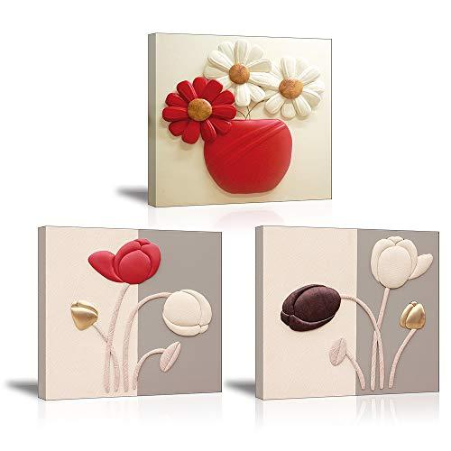 Piy Painting Impresión Cuadro sobre Lienzo Imagen de Tulipanes Elegantes Canvas Print Wall Art Flor...