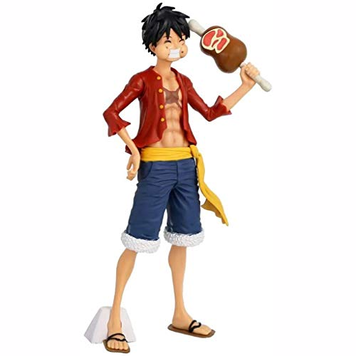 Anime Model One Piece Anime Figure Action Figure Monkey D. Luffy Change Face 28cm Figurine Collection Statue Ornaments Decoration Kids Toys Doll Gift (Color : Monkeyd.luffy)