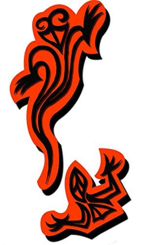 Pierre Tatouage Temporaire Ephémère Magic Tattoo Salamandre double face 12 cm x 5-cm (pierre seule sans Encre de tatouage temporaire 20ml + encreur xxl (pierre seule sans le kit encreur)