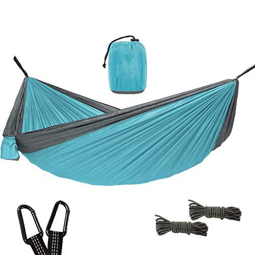 CHLDDHC Ultralichte reis-camping-hangmat Double Camping Lichte draagbare hangmat voor wandelingen buitenshuis - nylon hangmat schommel - ondersteuning van karabijnhaken