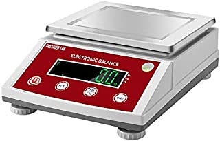 American Fristaden Lab Digital Precision Analytical Balance 10kg x 0.1g   Measures Grams, Ounces, Pounds and Carats   0.1g Accuracy   Scientific Scale for Laboratories, Jewelers and More