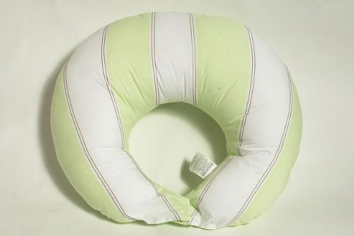 Bacati - Metro Lime/White/Chocolate Nursing Pillow Cover Only