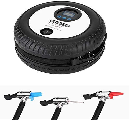 Schneller Preset Digital-beweglichen Auto-Gummireifen-Pumpe mit LCD-Display, Luftdruck-Erkennung und automatischen Stop-Inflation, Geeignet für Fahrrad-Reifen Schwimmen Ring,Schwarz