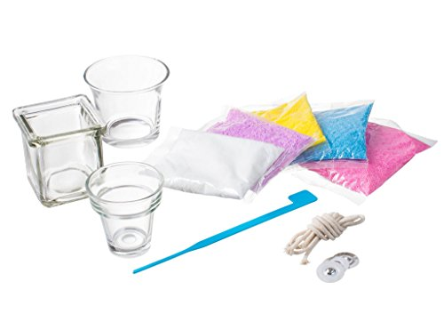 Rachels Art Candle Making Kit- Create Your Own Unique Candles with 5 Bags of Colored Wax