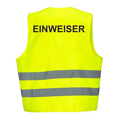 Warnweste GELB Sicherheitsweste Weste Einweiser (Einweiser 5er Paket)