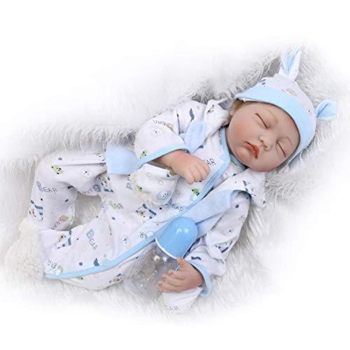 ZIYIUI Reborn Bambola 22 Pollici 55 cm Molle del Bambino di Simulazione del Silicone Vinile Bella Realistica Occhi Chiusi Ragazza del Ragazzo Bambini Giocattolo Reborn Bambola Regalo di Natale