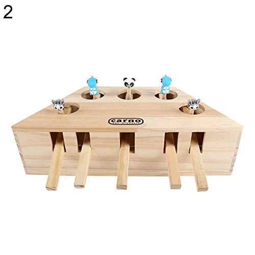 zNLIgHT gebruik voor 3/5-gat imitatie mol muis spelen spel kat hond houten bijten huisdier speelgoed decor, 2